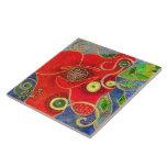 """""""Poppy"""" (painting) Ceramic Tile"""