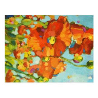 Poppy Painting II Postcard
