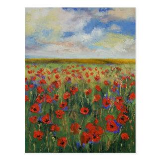 Poppy Painting Postcard