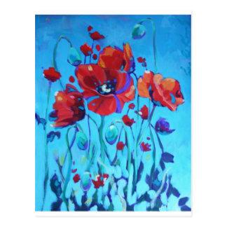 Poppy Painting V Postcard