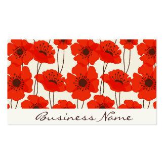 Poppy Pattern Business Card