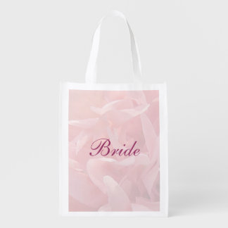Poppy Petals Bridal Tote Reusable Grocery Bags