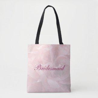 Poppy Petals Bridesmaid Wedding Tote Bag