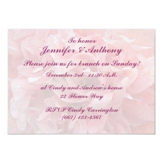 """Poppy Petals Brunch 5"""" X 7"""" Invitation Card"""