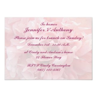 Poppy Petals Brunch Personalized Invitations