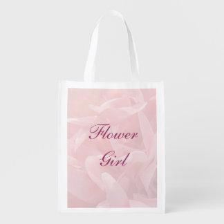 Poppy Petals Flower Girl Tote Reusable Grocery Bag