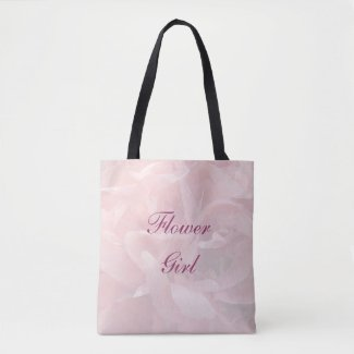 Poppy Petals Flower Girl Wedding Tote Bag