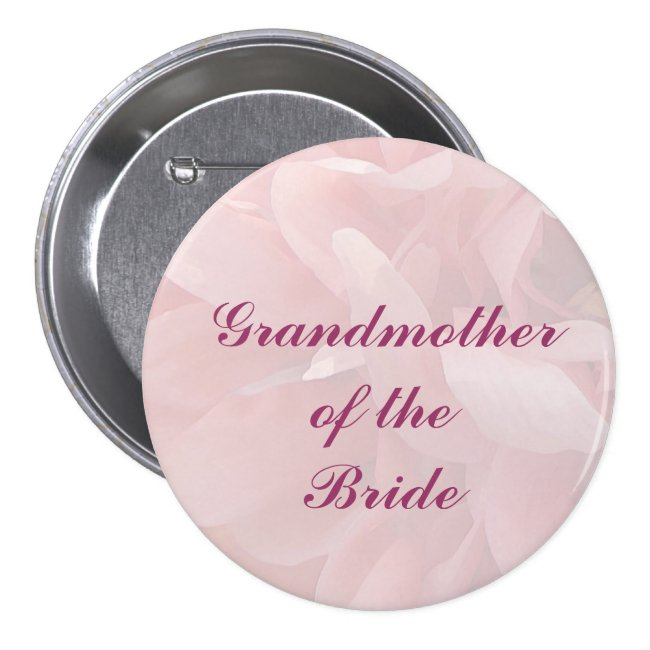 Poppy Petals Grandmother of the Bride Pin