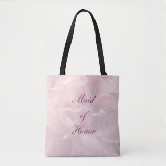 Poppy Petals Maid of Honor Wedding Tote Bag