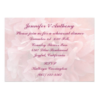Poppy Petals Rehearsal Dinner Personalized Invites