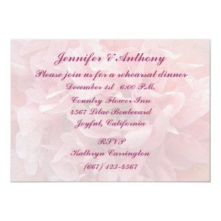 Poppy Petals Rehearsal Dinner 5x7 Paper Invitation Card