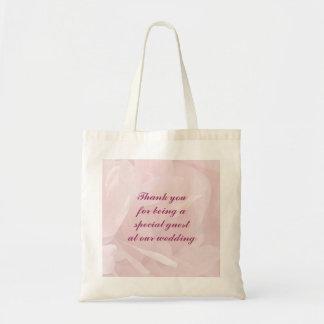 Poppy Petals Wedding Favor Canvas Bags