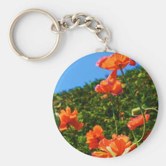 Poppy Photo Keychain