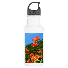Poppy Photo Stainless Steel Water Bottle