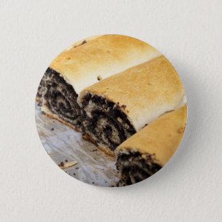 Poppy pie pinback button