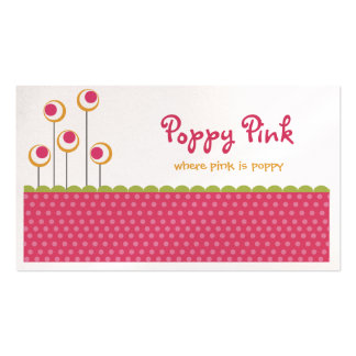 Poppy Pink Business Cards