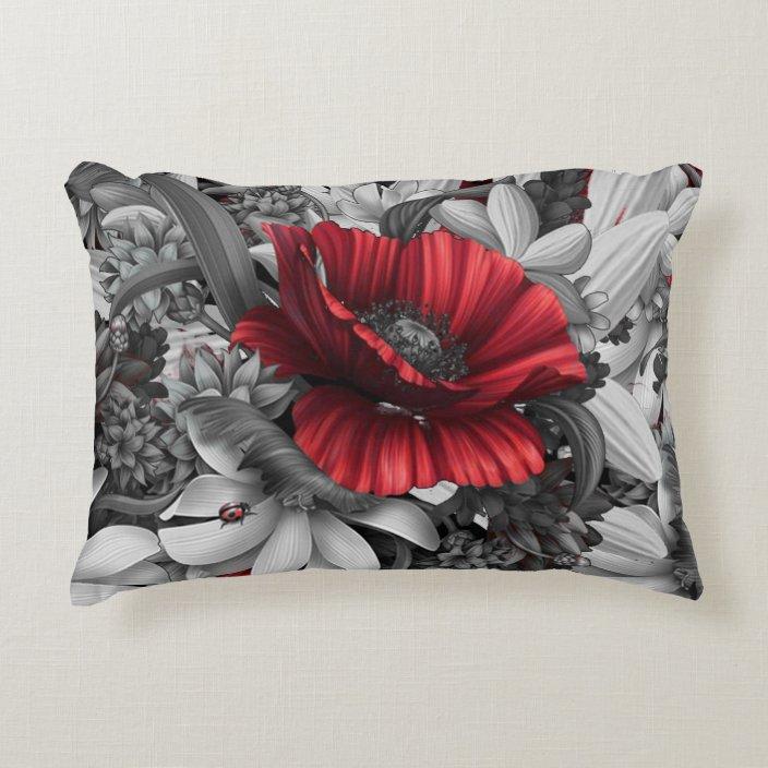 Poppy Pops Decorative Pillow Zazzle Com