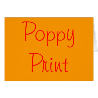 Poppy Print Card