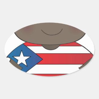 Poppy Puerto Rico Boy Oval Sticker