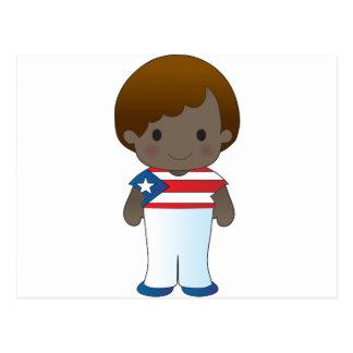 Poppy Puerto Rico Boy Postcard