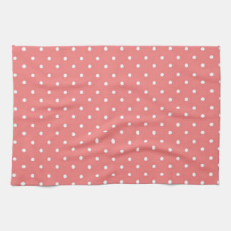 Poppy Red And White Polka Dots Design Hand Towel
