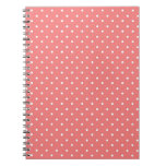 Poppy Red And White Polka Dots Design Spiral Notebook