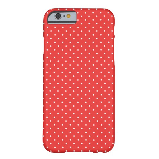 Poppy Red And White Polka Dots iPhone 6 case