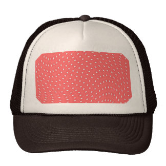 Poppy Red And White Polka Dots Pattern Hats