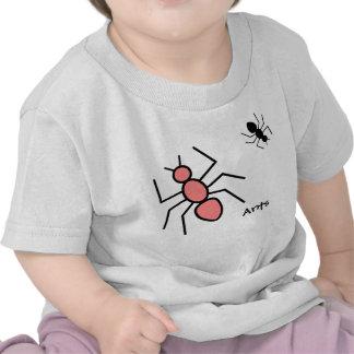 Poppy Red & Black Vector Ants T-shirt
