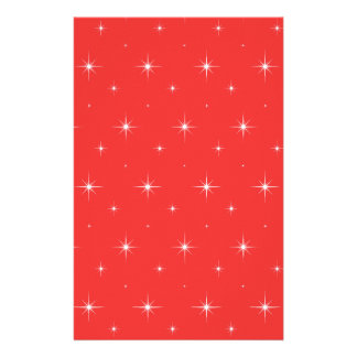 Poppy Red & Bright Shining Stars For Home & Office Stationery