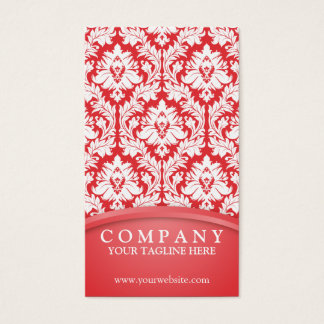 Poppy pattern business cards templates zazzle poppy red damask business card reheart Gallery