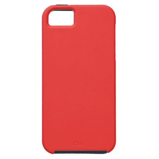 Poppy Red. Elegant Pattern. Fashion Color Trending iPhone 5 Covers