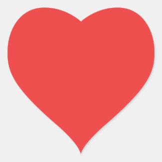 Poppy Red. Elegant Pattern. Fashion Color Trending Heart Sticker