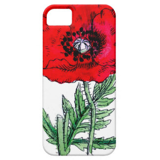 poppy red flowers victorian blossoms iPhone SE/5/5s case