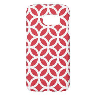 Poppy Red Galaxy S7 Cases Geometric Pattern