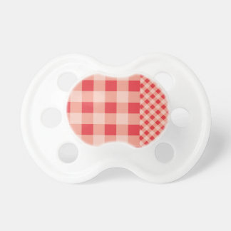 Poppy Red Gingham pattern Pacifiers
