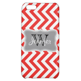 Poppy Red & Gray Trendy personalized iPhone 5 iPhone 5C Case