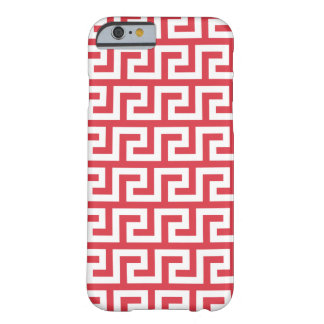 Poppy Red iPhone 6 Cases - Meander Pattern Barely There iPhone 6 Case