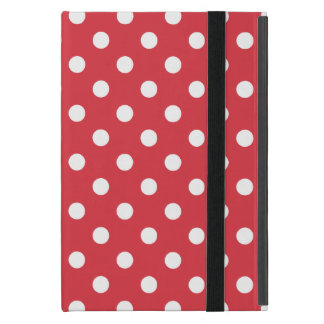 Poppy Red Polka Dot Pattern Covers For iPad Mini