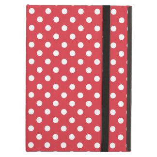 Poppy Red Polka Dot Pattern iPad Folio Case