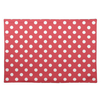 Poppy Red Polka Dot Place Mat