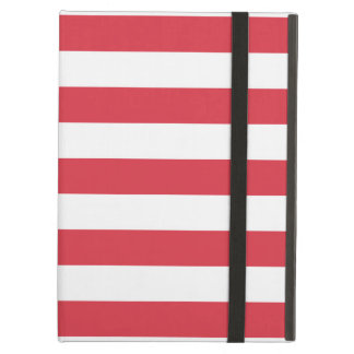 Poppy Red Stripes Pattern Case For iPad Air