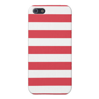 Poppy Red Stripes Pattern iPhone SE/5/5s Cover