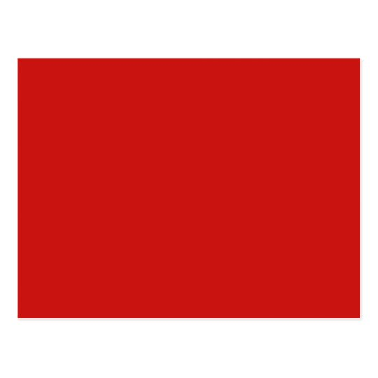 Poppy Red Trend Color Customized Template Blank Postcard
