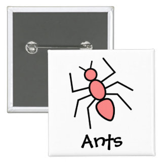 Poppy Red Vector Ant Pinback Button