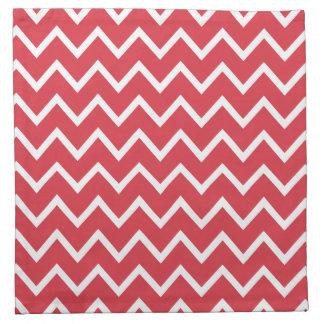 Poppy Red Zig Zag Chevron Cloth Napkin