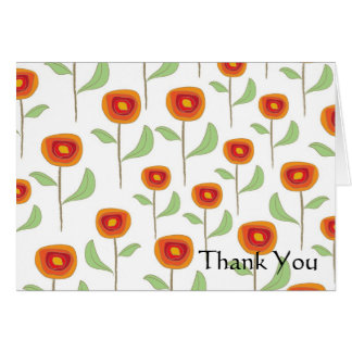 Poppy Retro, Thank You Card