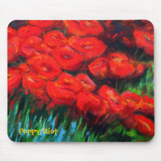 Poppy Riot Mouse Pad
