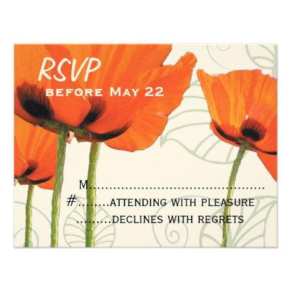 Poppy RSVP Personalized Invite