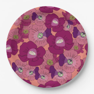 Poppy Rush Paper Plate